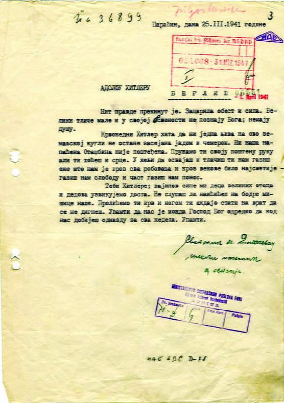 Billedresultat for pismo svetolika dragačevca hitleru