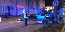 Groźny wypadek radiowozu w Sopocie. Ośmiu policjantów, kierowca i dziecko w szpitalu