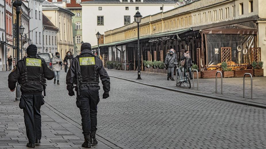 Puste centrum Krakowa patrolowane przez Straż Miejską
