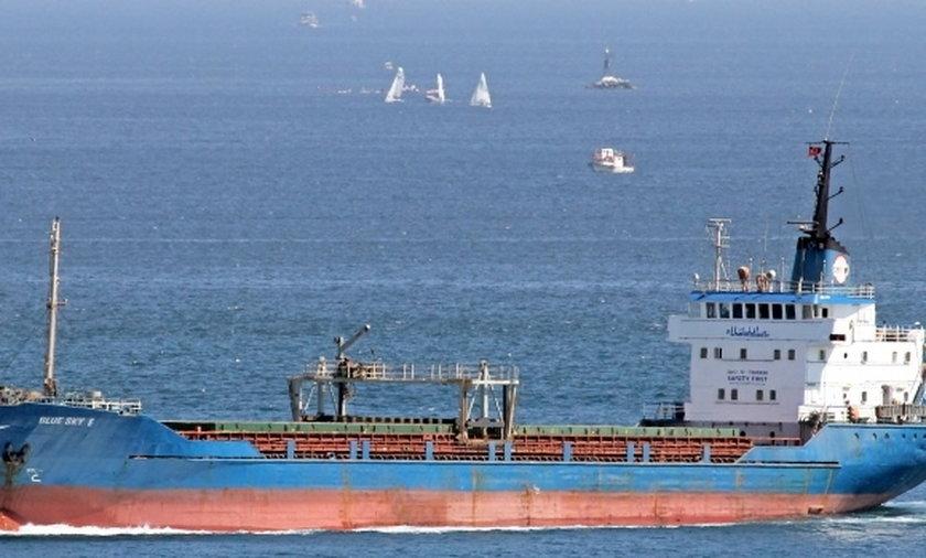 cargo ship Blue Sky