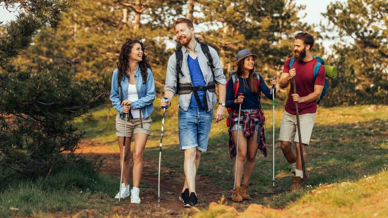 Turyści na szlaku