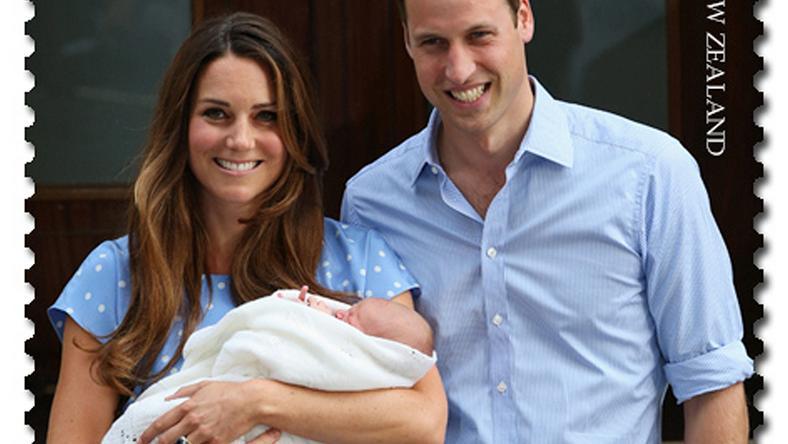 Księżna Kate i książę William z małym Georgem