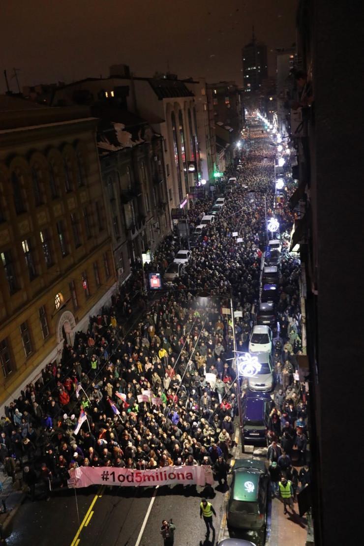 Protest opozicija beograd 3 foto RAS
