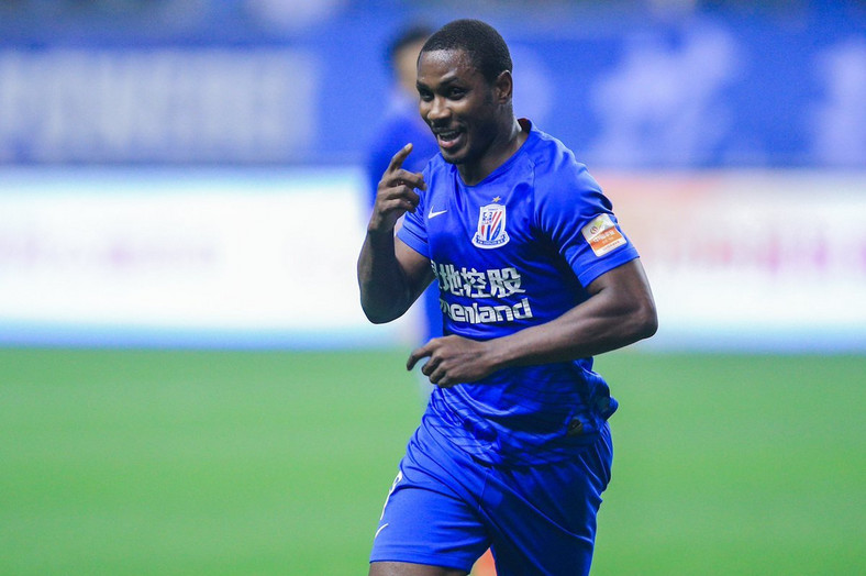 Odion Ighalo had scored seven goals from nine games before he left to play in AFCON 2019  (Twitter/Shanghai Shenhua)