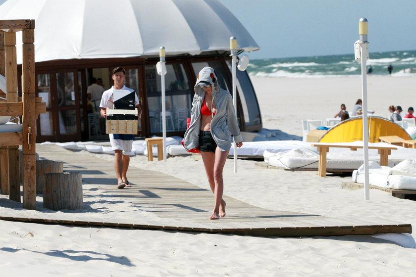 Agnieszka Dygant na plaży