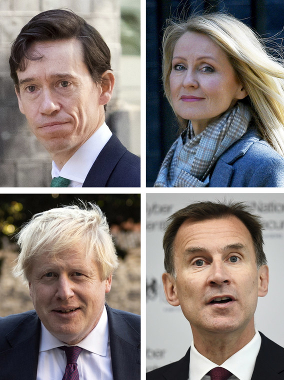 Rory Stewart, Esther McVey, Boris Johnson i Jeremy Hunt