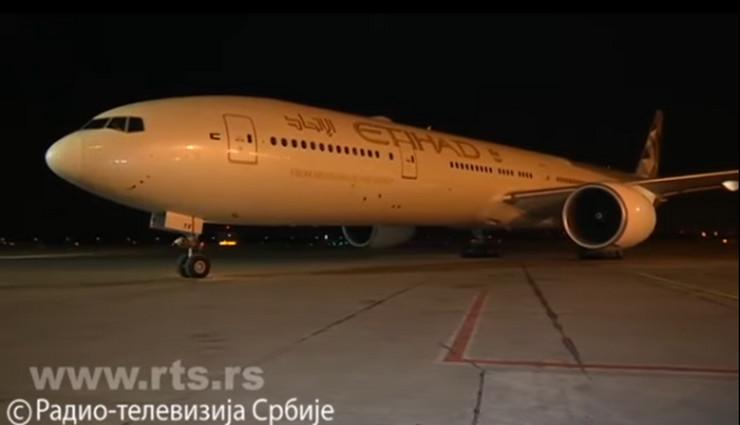 Sleteo avion pomoći iz Ujedinjenih Arapskih Emirata