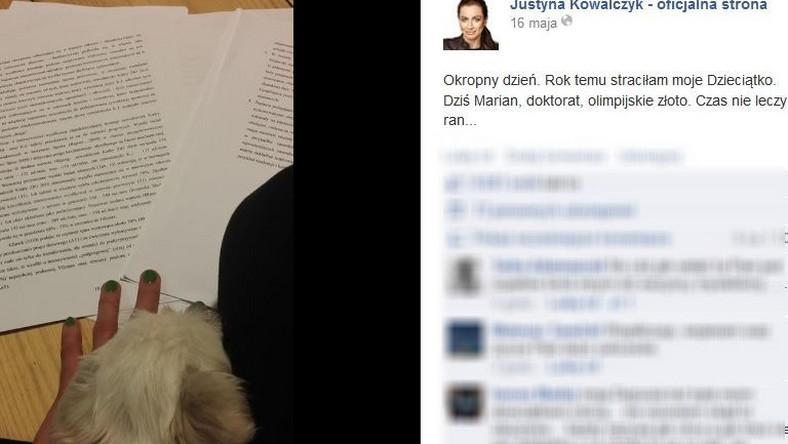 Wpis Justyny Kowalczyk