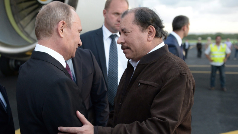 Władimir Putin i Daniel Ortega
