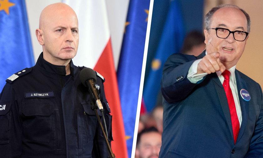 Jarosław Szymczyk, komendant główny Policji i Włodzimierz Czarzasty, wicemarszałek Sejmu