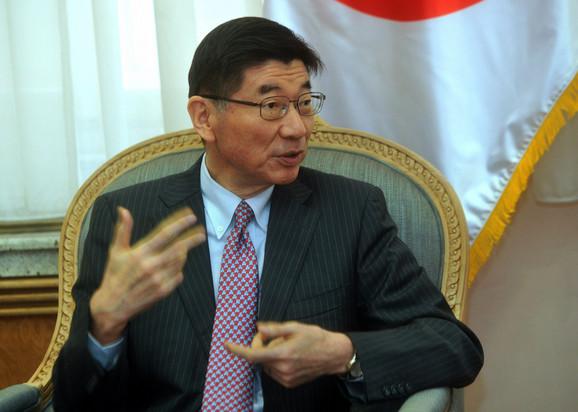 Ambasador Japana Marujam Junići