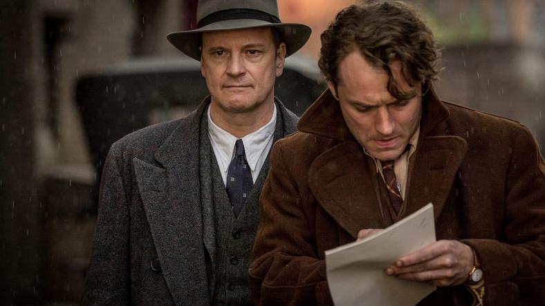 """Colin Firth i Jude Law na planie filmu """"Geniusz"""""""