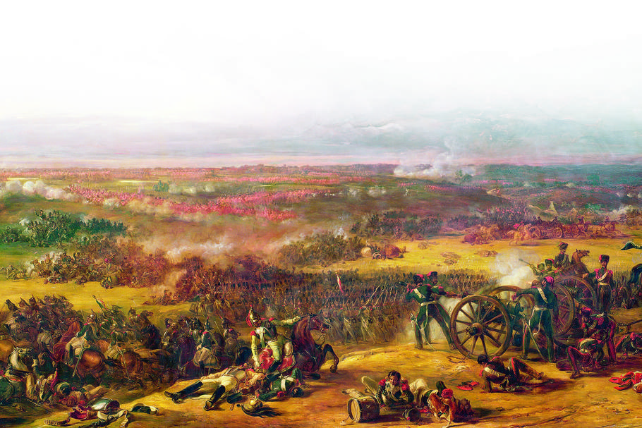 """Bitwa pod Waterloo, 1815"", obraz Sir Williama Allana z 1843 r."