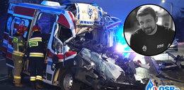 Strażak OSP zginął w wypadku karetki pogotowia w Zawierciu