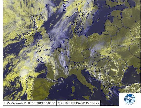 Satelitska slika Evrope