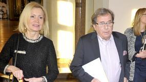 """Janusz Gajos, Laura Łącz i Magdalena Różczka na koncercie """"Gustaw Holoubek in Memoriam"""""""
