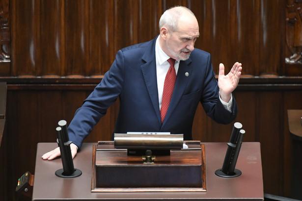 Wystąpienie ministra obrony Antoniego Macierewicza
