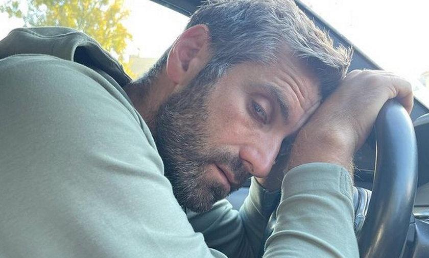 Maciej Dowbor cudem uniknął wypadku.