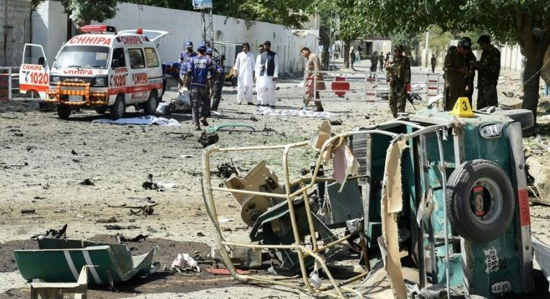 The explosion occurred in front of the office of the police chief in Quetta, which is capital of mineral-rich southern Balochistan, a province that is rife with separatist and Islamist insurgency