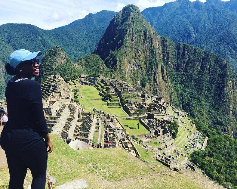 Achieng in Machu Picchu, Peru (Instagram)