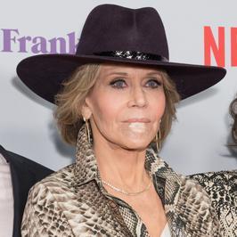 Jane Fonda na premierze z plastrem na twarzy. Wszystko przez raka