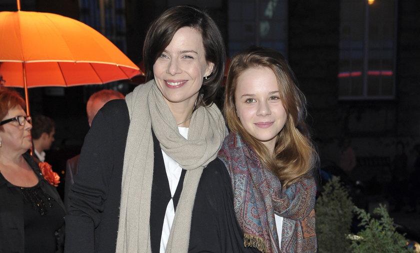 Agata Kulesza z córką