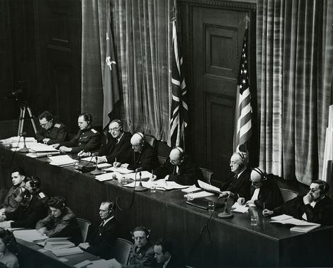 Sudije na Nirnberškom suđenju, 1945.