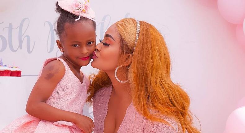 Zari Hassan with daughter Princess Tiffah