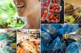 kolaž hrana, plastika