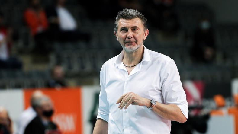Trener drużyny Jastrzębski Węgiel Andrea Gardini