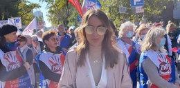 Zaskakujący uczestnik protestu nauczycieli. Co tam robiła żona ministra PiS?