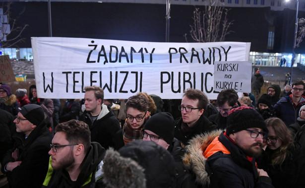 Protest przed siedzibą TVP
