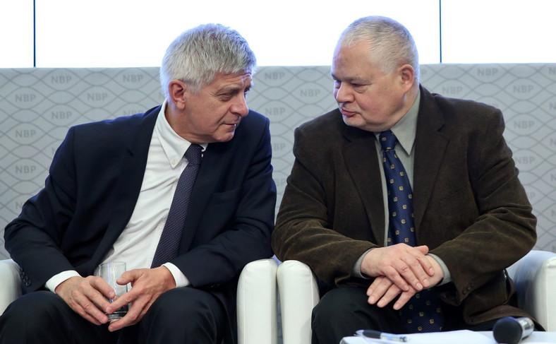 Adam Glapiński i Marek Belka