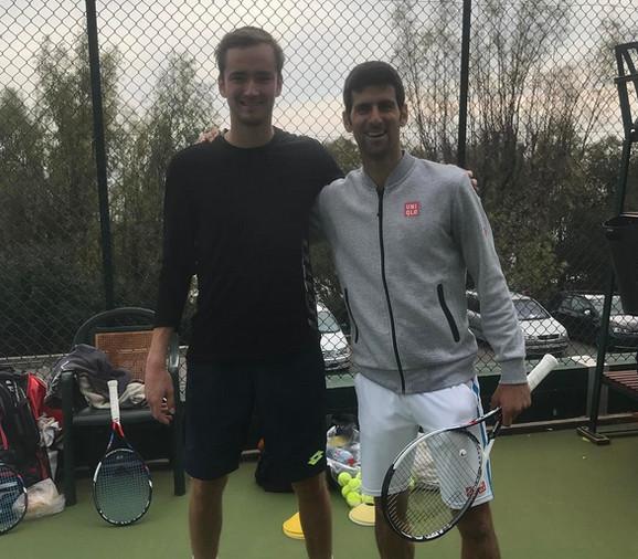 Danil Medvedev, Novak Đoković