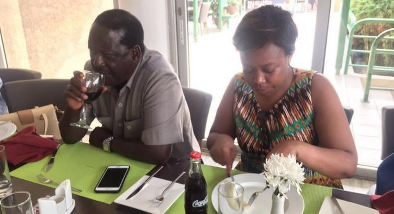 Yvonne Khamati with Raila Odinga. Ambassador Yvonne Khamati in Mourning