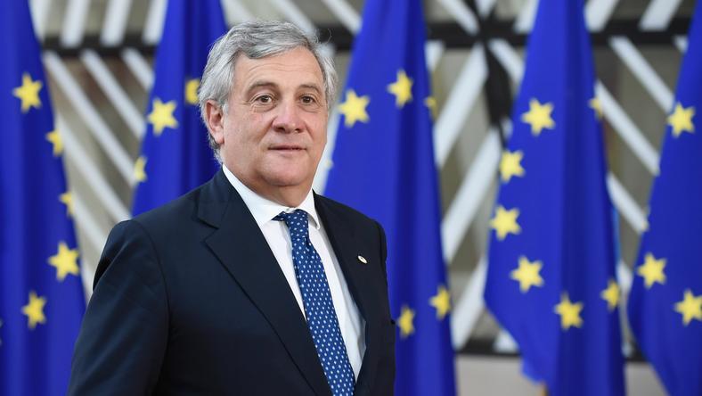 Antonio Tajani, przewodniczący Parlamentu Europejskiego