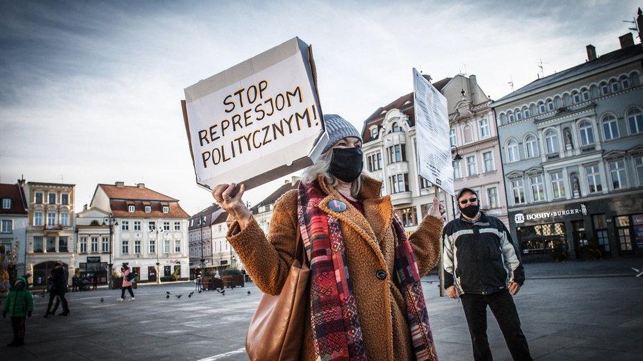 Zorganizowany przez KOD protest w ramach akcji ''Stop Zastraszaniu''