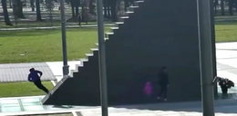 Jeździli przy czy po pomniku smoleńskim? Policja publikuje nagranie