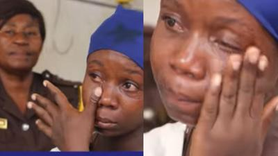24-year-old Ghanaian single mum of 3 jailed over Ghc5 stolen to buy food for her kids (video)