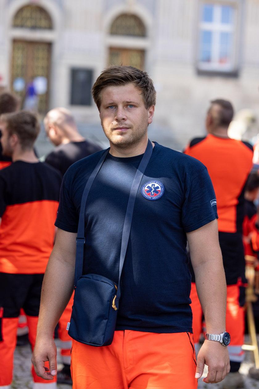 Damian Bocian, ratownik z Bielska-Białej