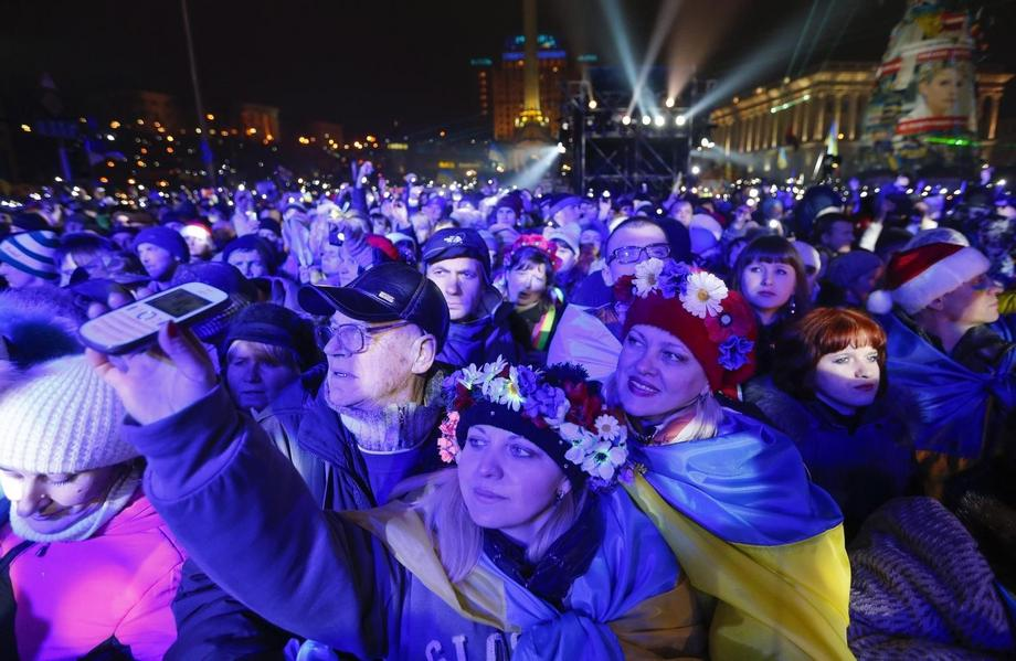 UKRAINE EU PROTESTS NEW YEAR 2014