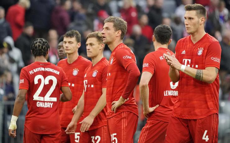 Izraz lica fudbalera Bajerna posle šokantnog poraza od Hofenhajma