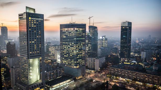 Widok z Pałacu Kultury i Nauki na centrum Warszawy