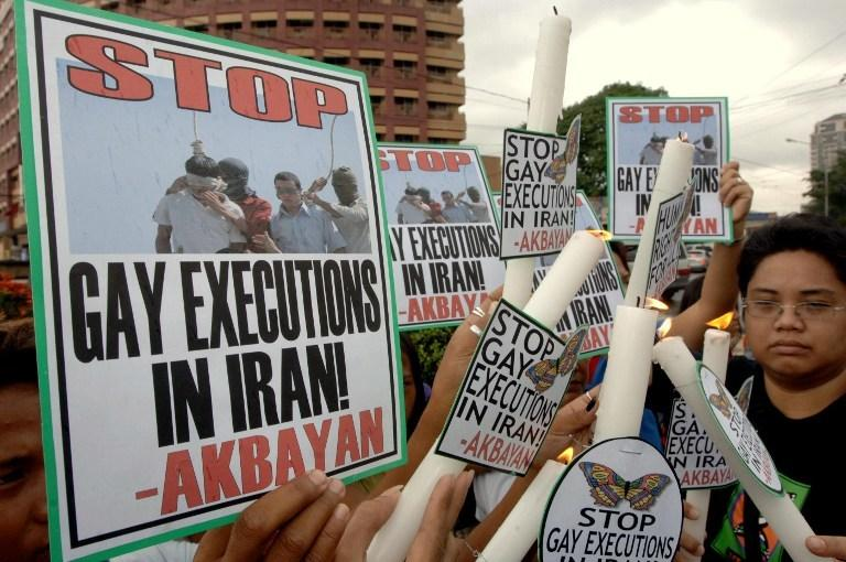 Manifestacja w Manili (Filipiny) przeciwko egzekucjom w Iranie, 2005 rok