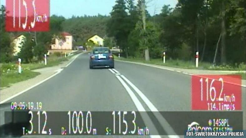 33 punkty karne w kilka minut. Szalony rajd pirata drogowego z Sandomierza