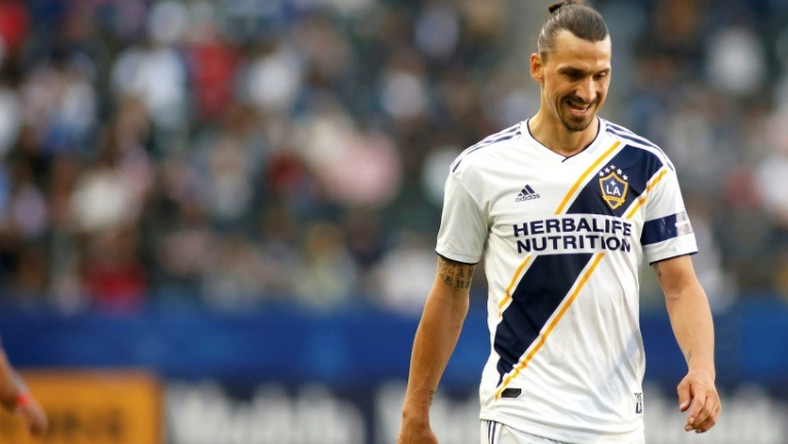 Despite goals from Zlatan Ibrahimovic (pictured) and Uriel Antuna Los Angeles Galaxy surrendered two second-half goals in a 3-2 loss to the New York Red Bulls