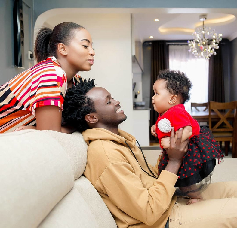 Diana, Heaven and Bahati. Bahati unveils son's Majesty Bahati face for the first-time (Photo)