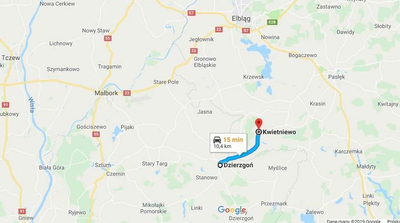 Trasa Dzierzgoń-Kwietniewo