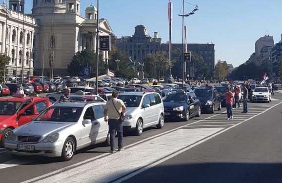 Blokada na Trgu Nikole Pašića