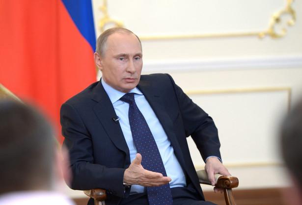 Konferencja prasowa Władimira Putina. Fot. EPA/ALEXEY NIKOLSKY /RIA NOVOSTI/PAP/EPA